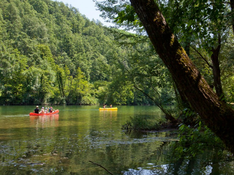"Follow river Kolpa in its run and have fun diving in its waters or renting a canoe! Photo by slovenia.info ""I feel Slovenia"""