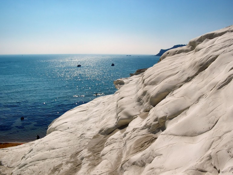 The white beach of La scala dei Turci, near Agrigento, Sicily