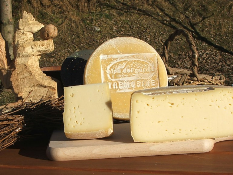 Tremosine cheese is a typical local food