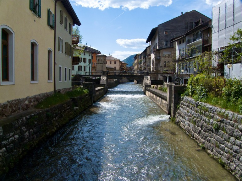 Borgo Valsugana and Brenta river