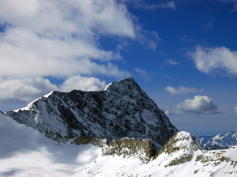 Adamello mountain covered by snow