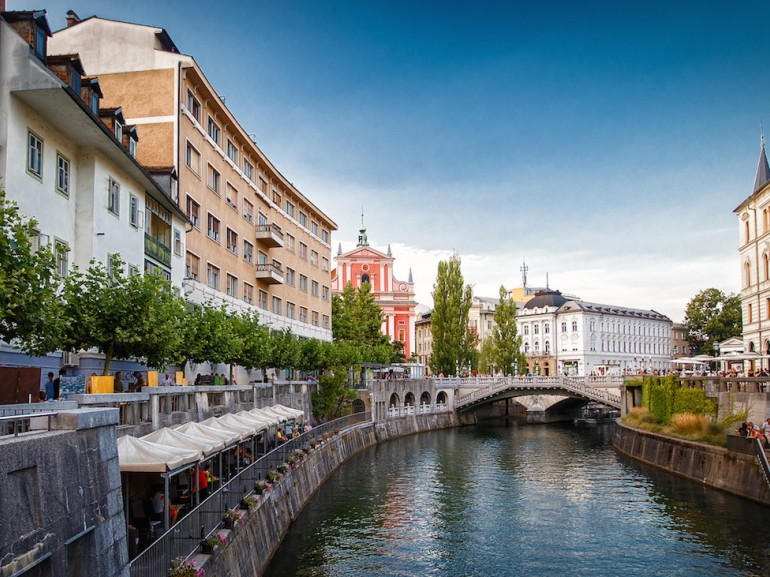 Ljubljana crossed by its river