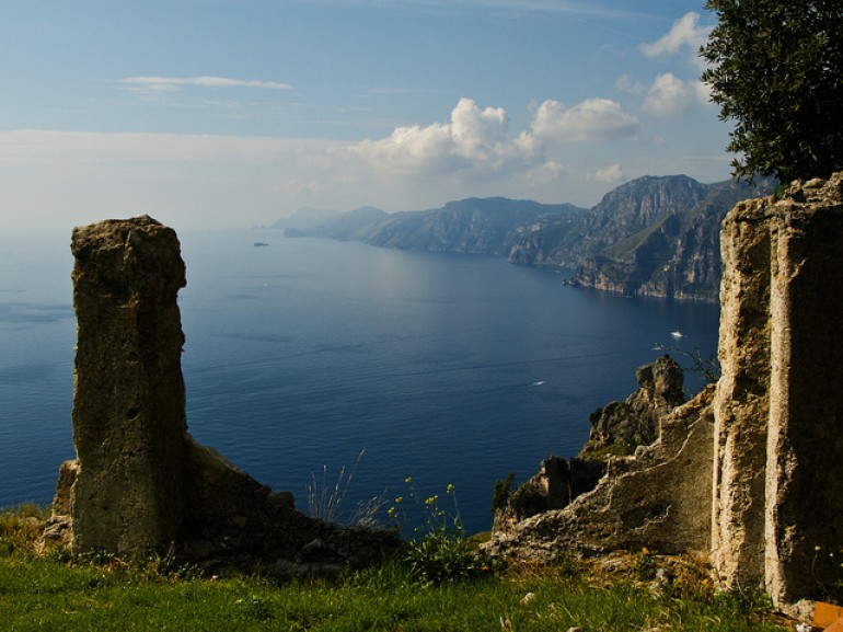 The Amalfi Coast and Capri from the Path of the Gods Praiano. Marite Toledo via Flickr