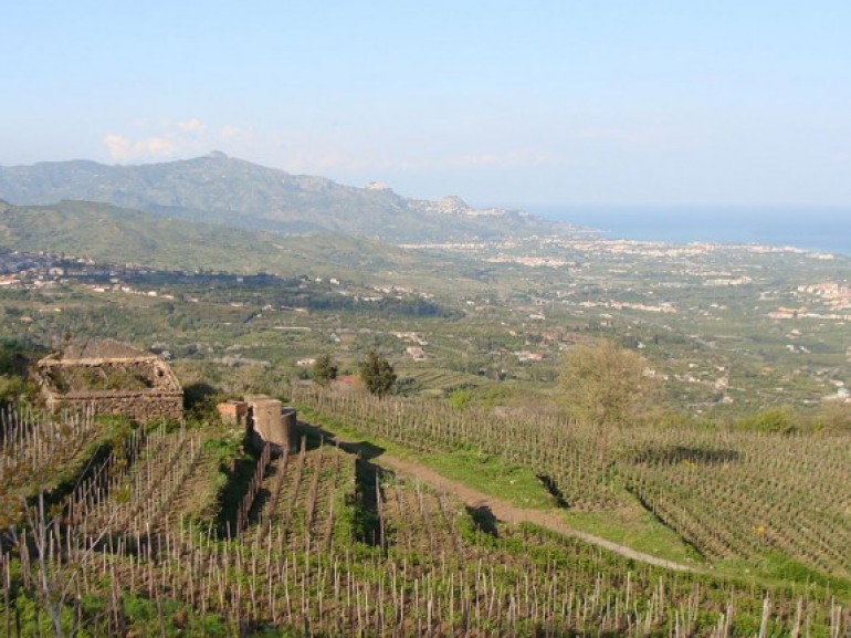 View from the Eco house Etna in Mascali (CT) - Sicily