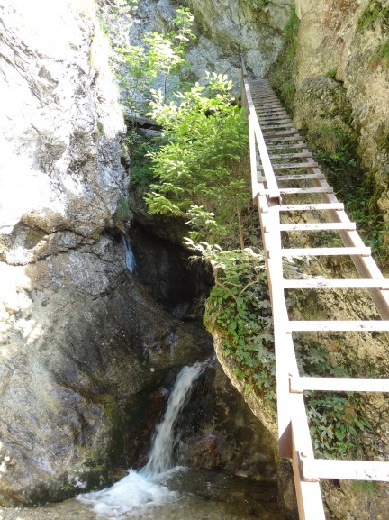 Janosikove diery waterfall and ladder