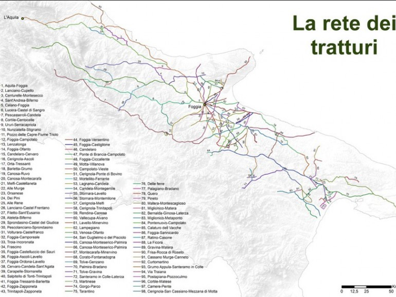 Tratturi map - photo via leviedeitratturi.com