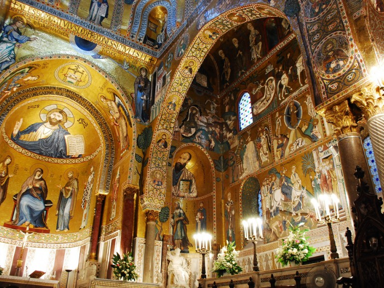 The Palatine Chapel is the royal chapel situated in the Palazzo dei Normanni