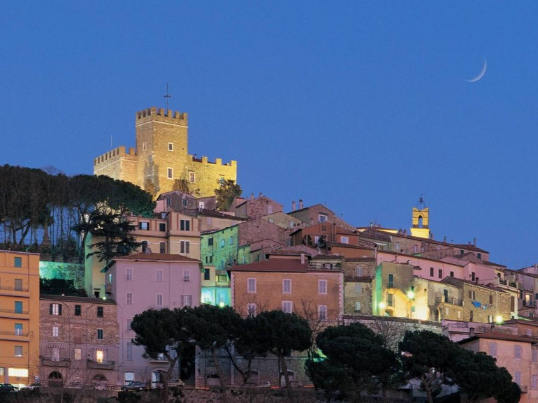 Manciano in the evening, magical village of the Maremma