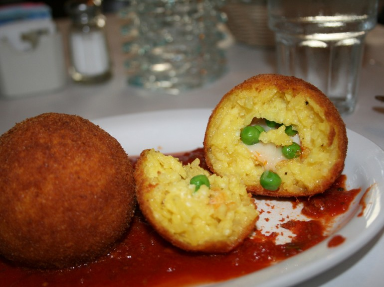 Arancine is a typical dish of Palermo