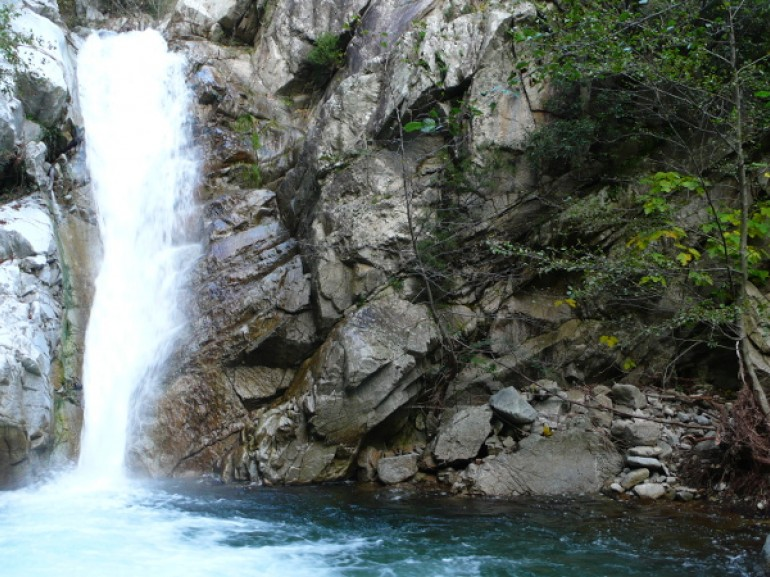 Waterfall of Assi river, Calabria, South Italy