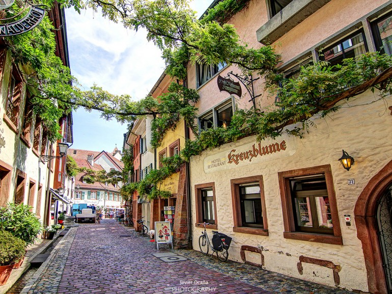 A typical street of Freiburg