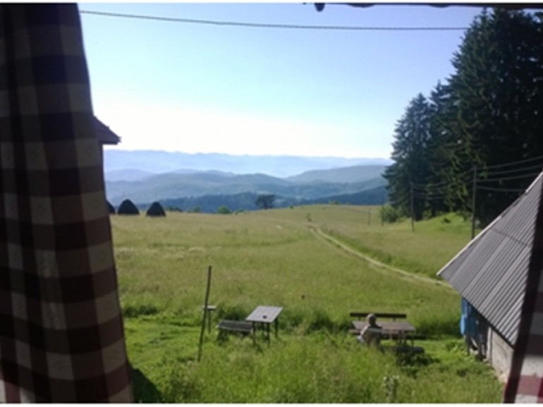 Kamena Gora – view from the window of the rural household