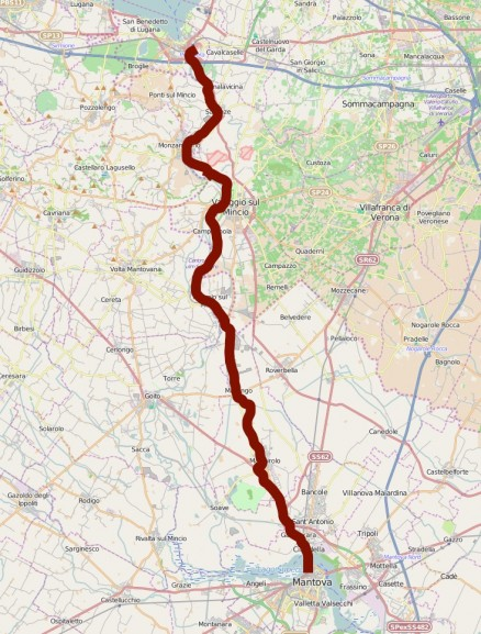 Map of the cycle path