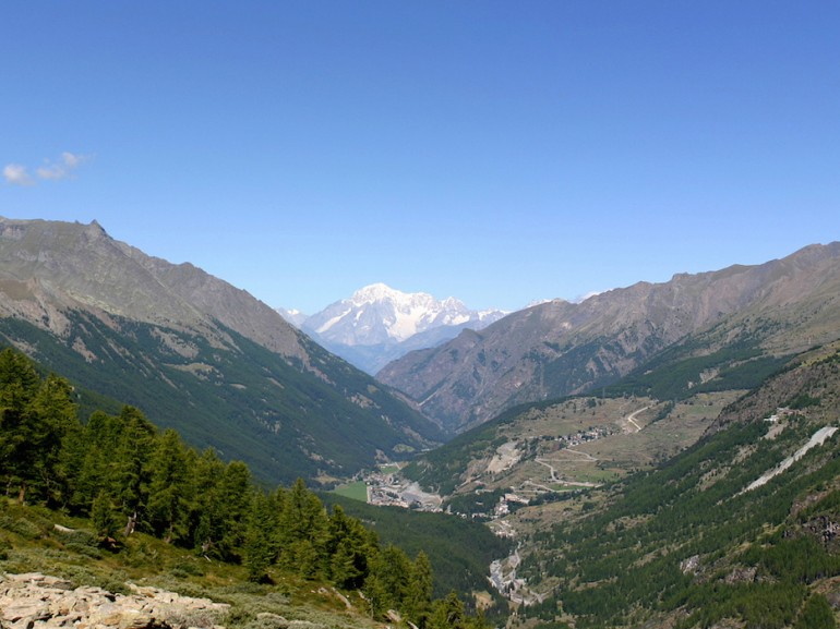 Valley of Cogne and Mont Blanc