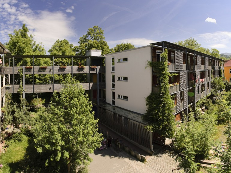 Houses in Vauban, powered with solar panels