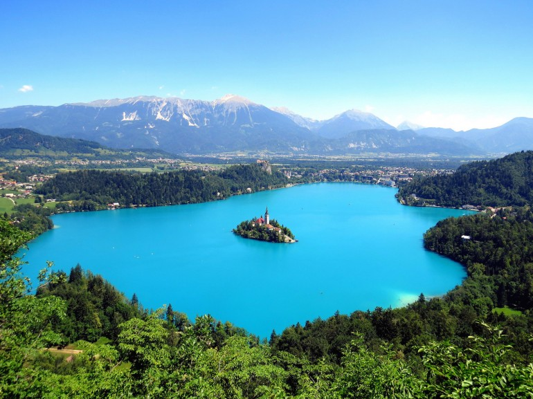 The magical lake Bled and its island