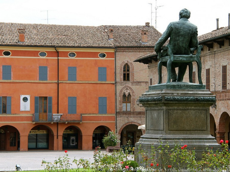 Barezzi House, home of the patron of the young Verdi, photo by Renaud Camus via Flickr