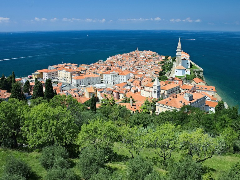 View of Piran from Portoz
