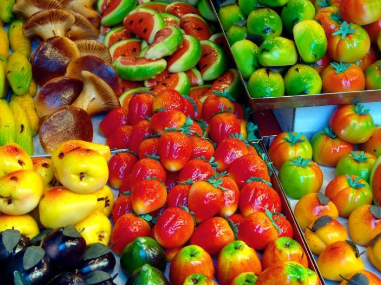 marzipan in the shape of fruits